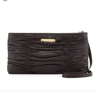 Michael Kors Webster ruched Leather clutch